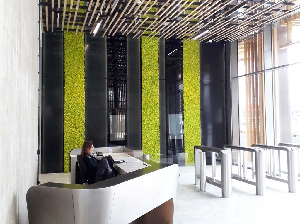 Зелени стени от скандинавски мъх Бизнес парк София