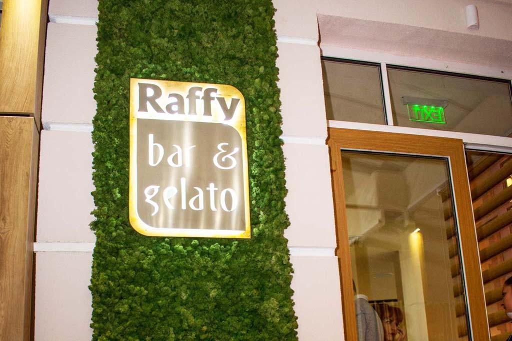 Скандинавски мъх за фон на логото на ресторант Raffy.
